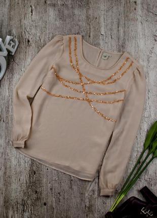 Блуза шифоновая розовая от cotton traders