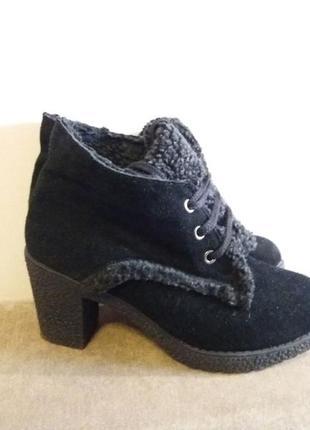 Замшевые ботинки осень-весна 37р