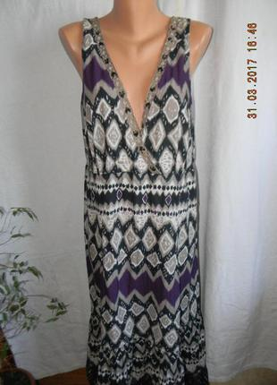 Легкое платье в пол большого размера