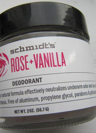 Дезодорант натуральный schmidt´s роза ваниль без аллюминия новинка