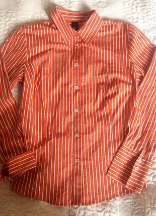 Деловая блуза-рубаха в полоску