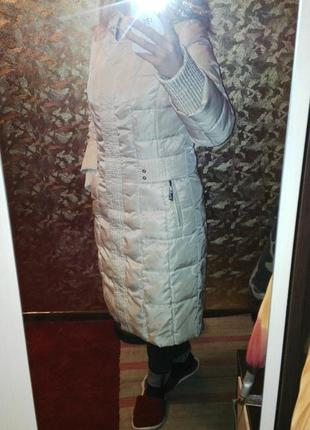 Стеганое пальто, классический натуральный пуховик