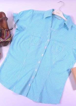 Рубашка в клетку, короткий рукав jessicaa ( c&a)