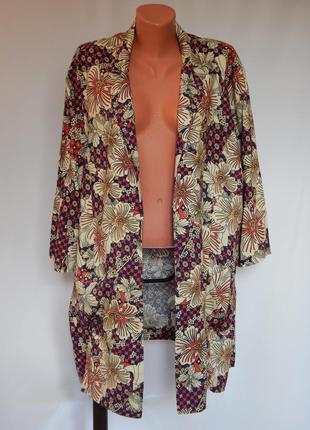 Пиджак свободного кроя без пуговиц от cotton traders (размер 20)