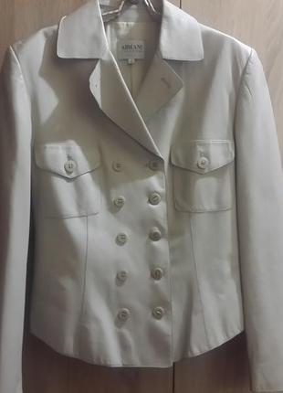 Кожаная куртка, пиджак  armani collezioni ,оригинал.италия