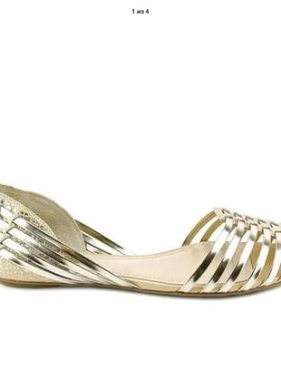 Балетки в модном золотом цвете, оригинал из америки