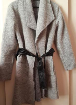 Крутое шерстяное пальто кардиган от бренда mavi