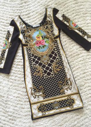 Elisabetta franchi платье вечернее футляр камни мозаика кружево нарядное красивое