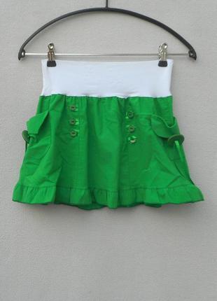 Пышная летняя мини юбка с карманами
