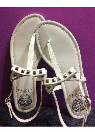 Vince camuto оригинал сандалии босоножки белые с бантиком бренд из сша р38