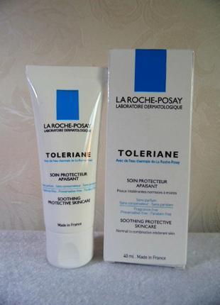 Крем  для чувствительной нормальной и комбинированной кожи лица  toleriane