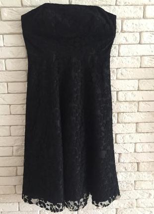 Новое кружевное платье-бюстье на подкладке