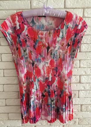 Модная плиссированная блуза