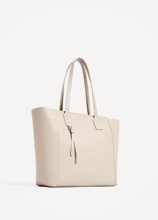 Модная сумка шоппер zara