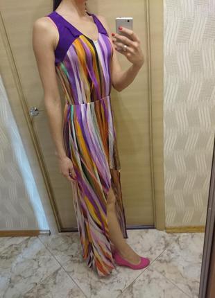Стильное ассиметричное макси платье от украинского дизайнера андре тана, р.s