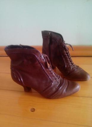 Осенние ботинки натуральная кожа
