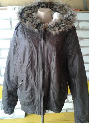 Куртка кожанка большого размера