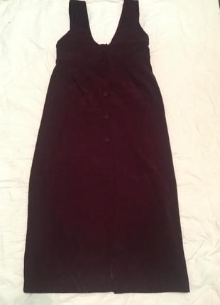 Трендовое бархатное платье-рубашка