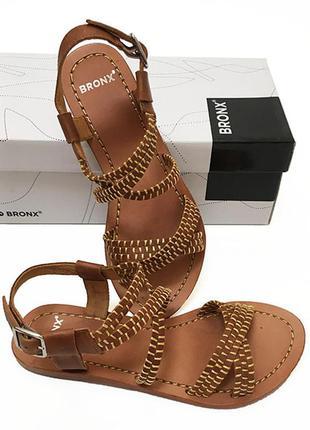 Кожаные босоножки сандалии bronx оригинал из сша