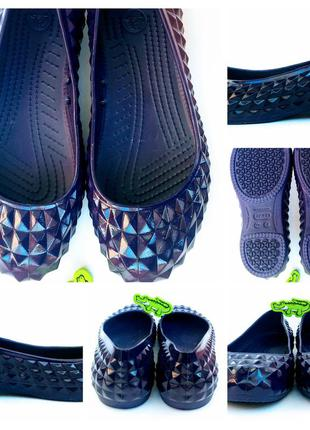 Гламурні crocs крокс w7 37 розміру 0153