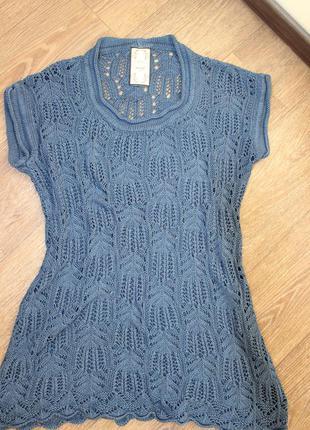 Вязаное платье-туника next