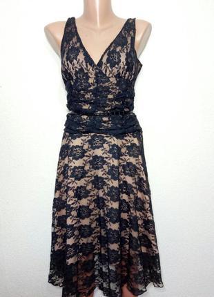 Платье миди кружевное  р 12