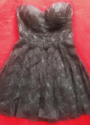 Шикарнейшее гипюровое платье-бюстье