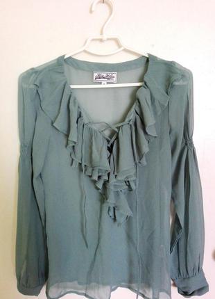 Блуза со шнуровкой miss milla