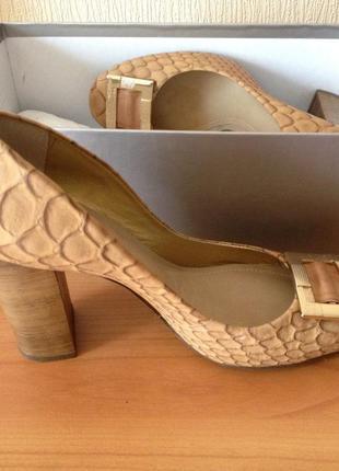 Туфли кожаные dumond(бразилия)   под змею