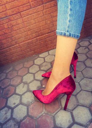 Женские туфли/туфли лодочки/высокий каблук/средний каблук/бархатные туфли/красная подошва