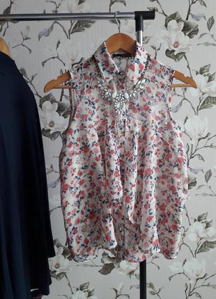 Atmosphere блуза без рукавов в цветочный принт