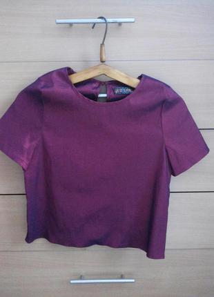 Укороченная блуза/топ/мойка ged london/в цвете вишня