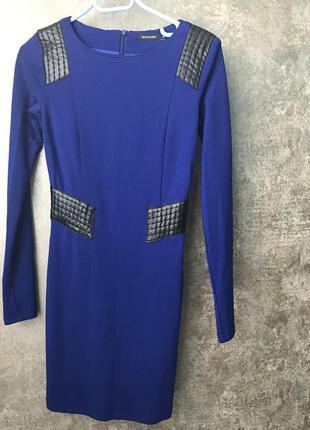Облегающее платье цвета индиго