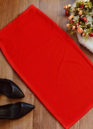 Юбка карандаш миди  классика /red