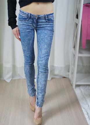 Летние сккинни с низкой посадкой. джинсы