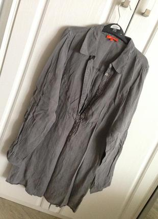 Батистовая тонкая рубашка туника мини платье