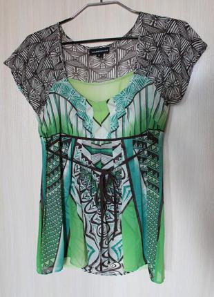 Шелковая блуза шелк warehouse 10р. 100% silk