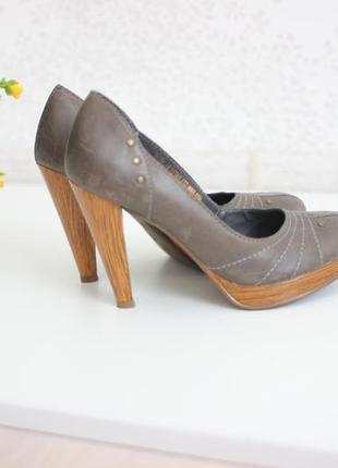 Кожаные туфли, натуральная кожа, бразилийский бренд faith