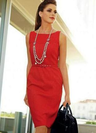 Красное платье - футляр.