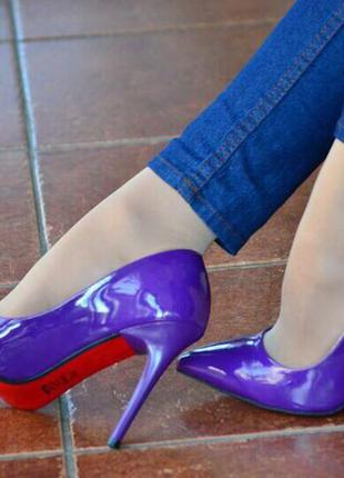 Женские туфли/туфли лодочки/высокий каблук/средний каблук/фиолетовые туфли/платформа