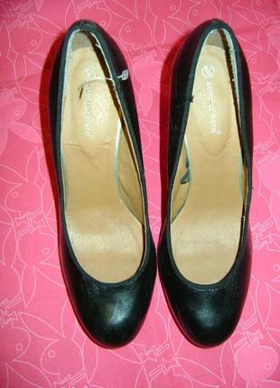 Черные классические туфли, на высоком каблуке atmosphere, размер 38