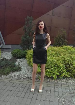 Платье эко-кожа от reserved
