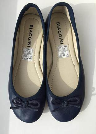 Кожаные балетки biaggini 36 размер
