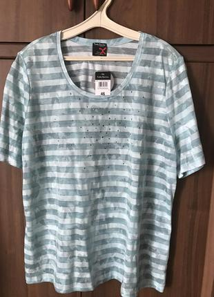 Брендовая стильна новая футболка большого размера