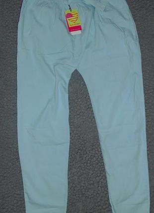 Glo-story яркие светло голубые штанишки весна лето на рост 170-168