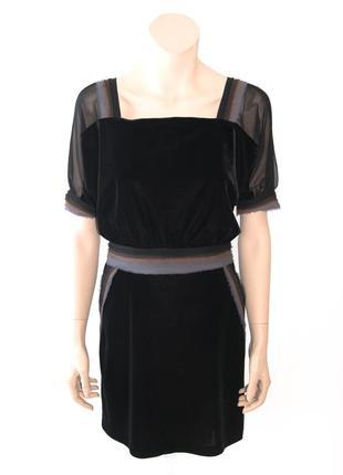 Платье шелковое rykiel темно-баклажановое s/m