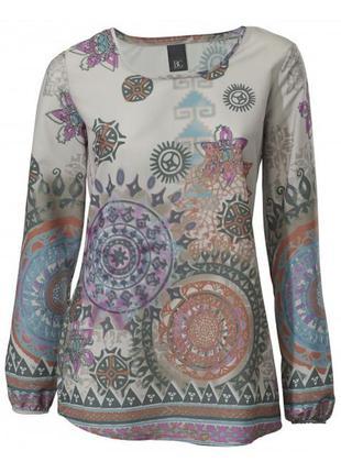 Красивая блуза принт best connection