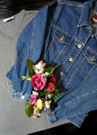 Стильный джинсовый пиджак ,фирмы trader!