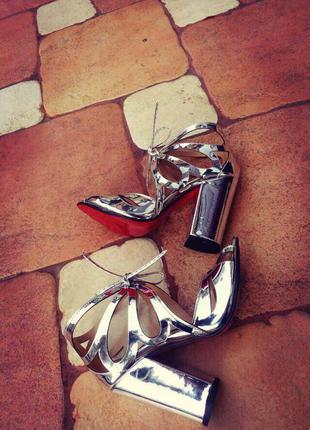 Босоножки женские/босоножки средний каблук/босоножки высокий каблук/красная подошва/босоножки