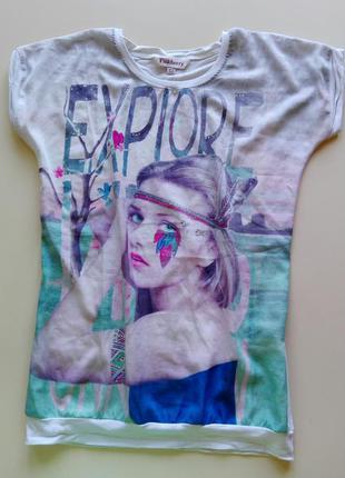 Красивая футболка с принтом pinkberry
